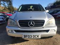 Mercedes ML 2.7 TD ML270 CDI Station Wagon 5dr 2688cc Auto