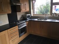 Fully fitted kitchen - solid wood. Buyer to remove.