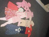 Bundle of baby girls clothes 3-6 mths.