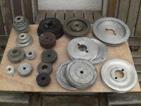 Large selection of 'V' belt pulleys.