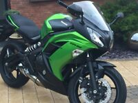 2013 Kawasaki ER 6F showroom condition.