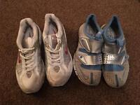 2x pairs Nike running / gym trainers - perfect for winter training
