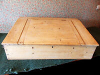Large old stripped pine clerks desk