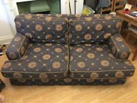 Free offer for two patterned two seater couches.
