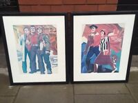 Pair of quality Soviet Era framed prints excellent central London bargain
