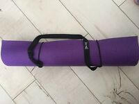 USA PRO non slip yoga mat - purple - 173 cm