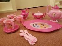 Disney Princesses Plastic Kids Childrens Play Tea Set