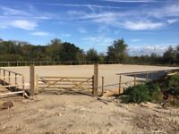 Equestrian Land 7 acres, 30m x 45m Arena & 8 Stables TO LET with amenities near Holt in Wiltshire