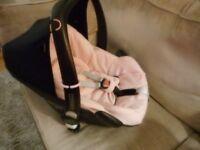 maxi cossi pink pebble car seat fits quinny etc