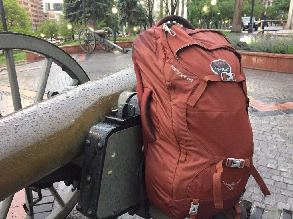 Mint Condition Osprey Farpoint 55 Backpack - Red | in Camden ...