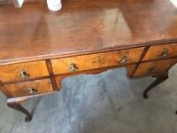 Lovely vintage dressing table, mirror and chest of drawers