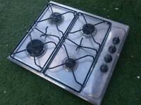 WHIRLPOOL STAINLESS STEEL 4 RING GAS HOB