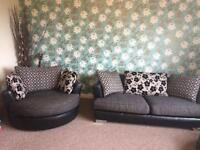 sofa & revolving chair