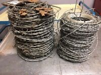 2 rolls of barbed wire