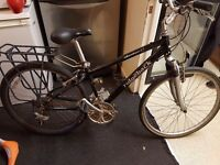 RIDGEBACK ADVENTURE K5 with suspensions, back rack, ALIMINIUM.Was 500. Now only £70. Hybrid.Delivery