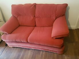 2 Seather Sofa Red