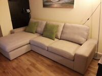 Superb two-seat fabric sofa & chaise longue **Price negotiable**