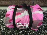 Gelert sleeping pod junior sleeping bag pink camo