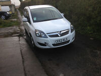 zafira 1.6 one owner service history two keys seven seater