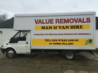 VALUE REMOVALS / MAN AND VAN / HOUSE ,JUNK AND RUBBISH ,GARDEN ,GARAGE , SHED CLEARANCE