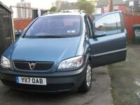 BLUE 7-SEATER VAUXHALL ZAFIRA, DRIVES SUPERB, GREAT FAMILY CAR