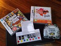 Nintendo ds game grand theft auto and easy piano learn play and compose