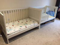 One or Two Toddler Beds | White | Very Good Condition | Includes Mattresses and Sheets