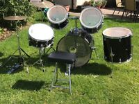 Full set of Sonic drums with hi-hat & cymbal