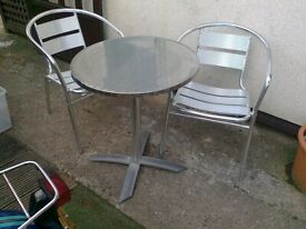 bistro table plus two chairs