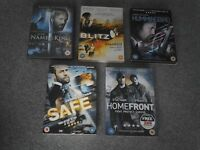 Jason Statham dvds x 5. All excellent condition. Large amount of other dvds available.