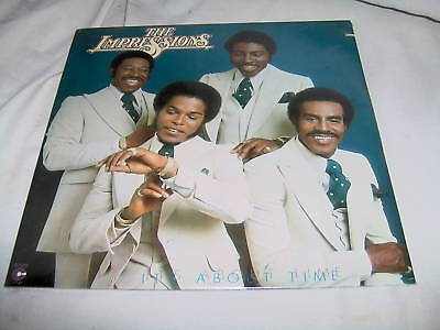 IMPRESSIONS-IT'S ABOUT TIME NEW SEALED vinyl soul LP