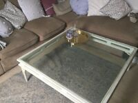 Large glass top coffee table ONLY £15