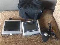 Car DVD player with two screens and gaming pad