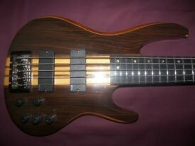 ESP LTD B-5E NS , Natural Satin 5-String Active Bass Guitar + EMG Pickups and Electronics.