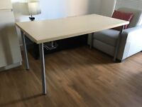 IKEA LINNMON desk + IKEA SIGNUM cable rail