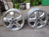 "two saab alloys 16"" , good condition"
