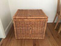 Large wicker storage basket/chest
