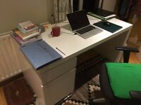 White MALM desk from IKEA