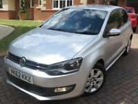 2012 VOLKSWAGEN POLO 1.2 MATCH 70 5 DR SILVER