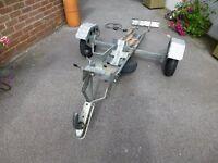 Single Bike Trailer, Tilting, New Tyres, 350kg load, Back Board, Wheel Stand, Jockey Wheel