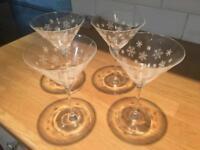 4 x Martini Glasses