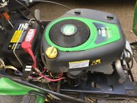 John Deere X125 ride on mower, now surplus to requirements