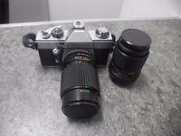 Praktica 35mm Camera Wcase & x2 Lenses