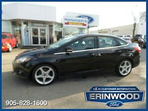 2012 Ford Focus Titanium - 4CYL/LTHR/PROOF/NAV/18 ALLOYS/SPOILER