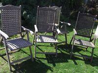 4 x hard wood chairs pagoda