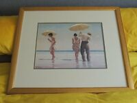 "Jack Vettriano -""Mad Dogs"" - beautiful framed print."