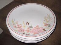 Hedge Rose Stoneware Patterned Dinner Plates