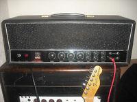 Carlsbro CS60TR tremolo valve guitar amplifier tube amp head vintage cs-60-TR