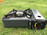 Portable gas burner with carry case