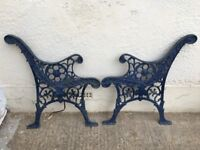 Vintage Cast/Wrought Iron Bench Ends
